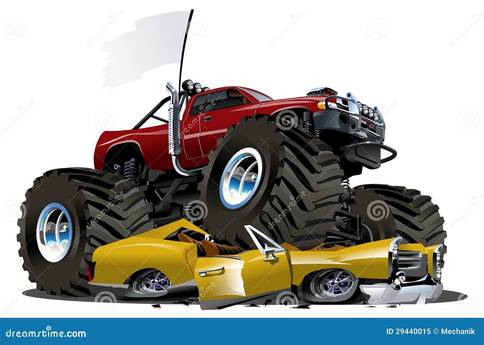 vector cartoon monster truck stock vector illustration of custom