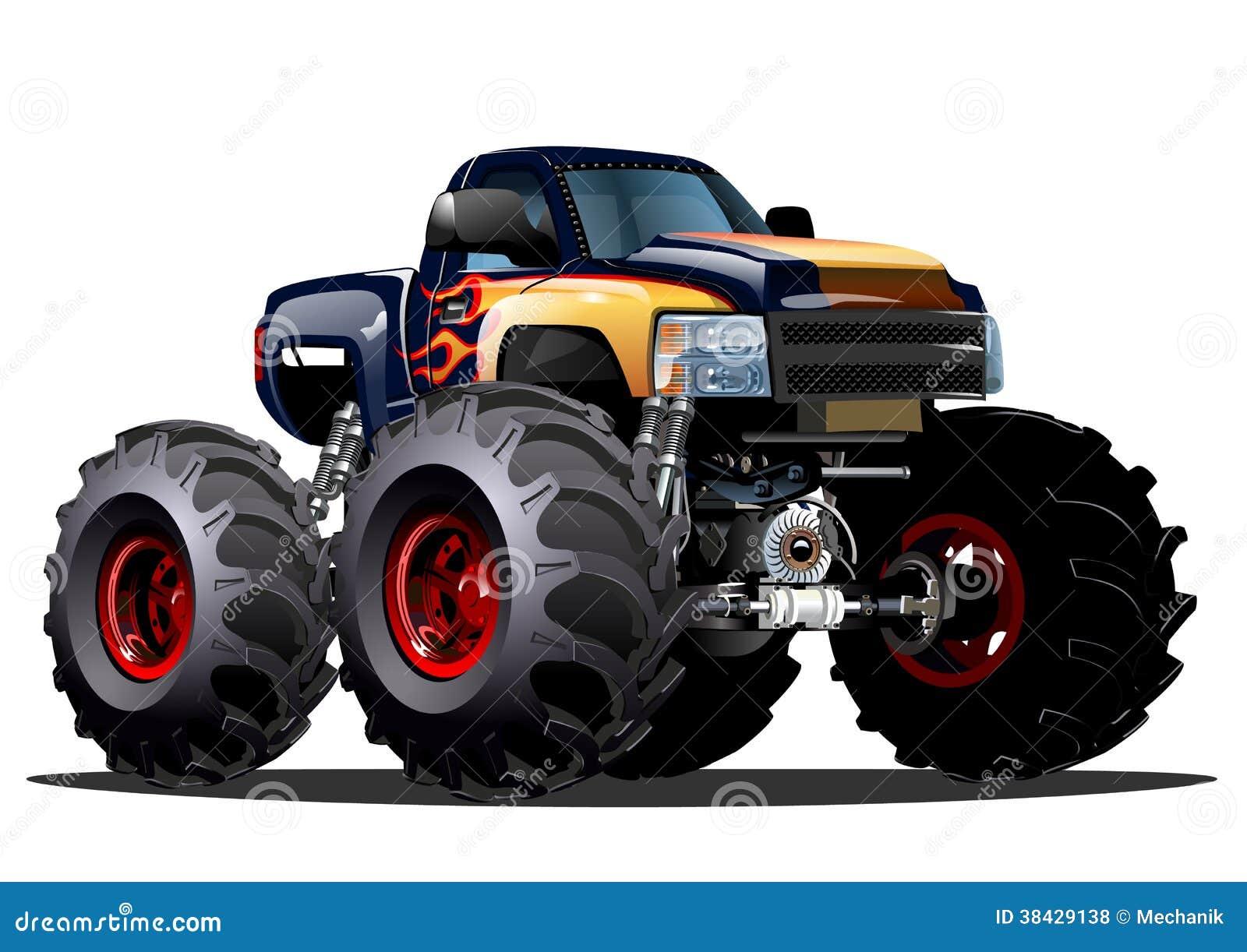 cartoon monster truck royalty free stock photos image 38429138