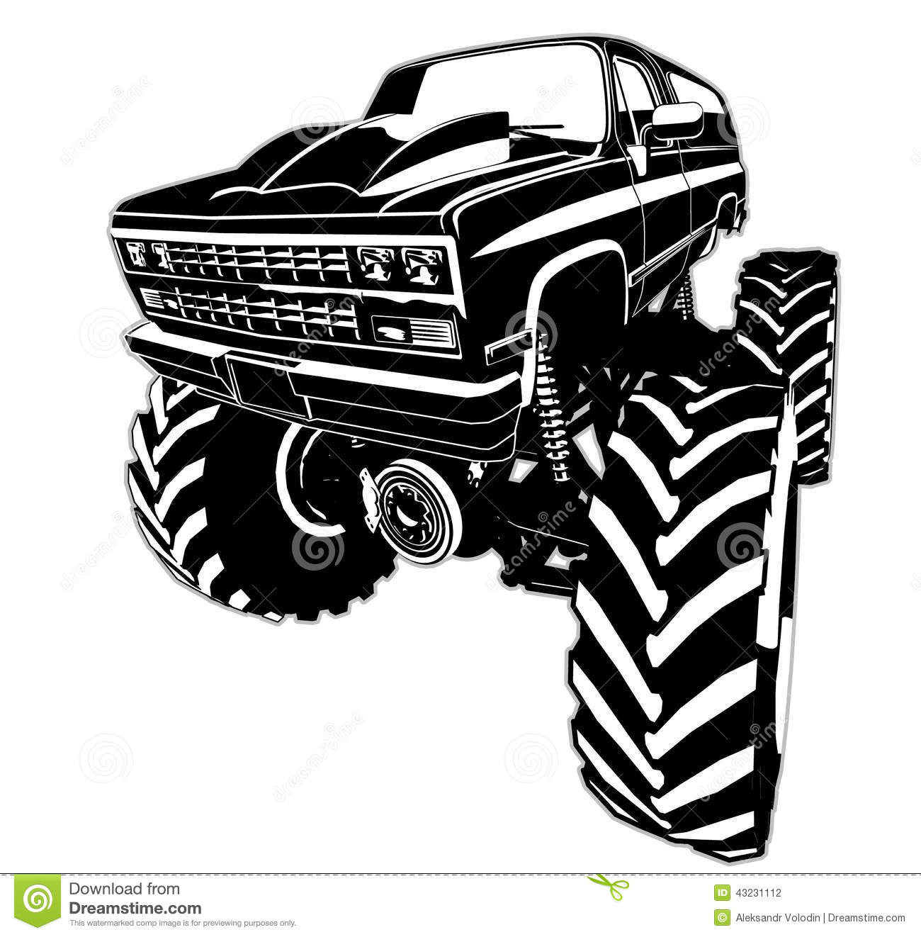 Cartoon Monster Truck Stock Vector Illustration Of Large 43231112