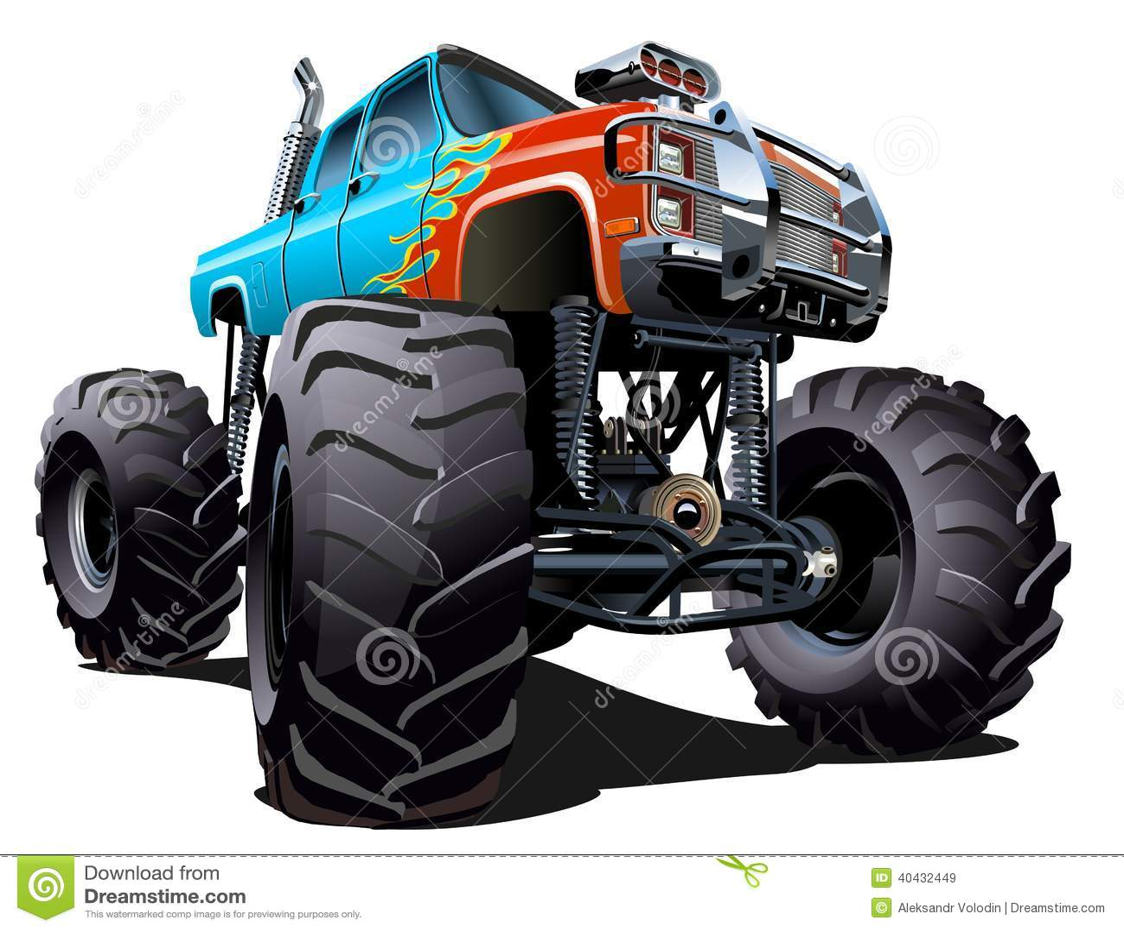 Cartoon Monster Truck Stock Vector. Illustration Of
