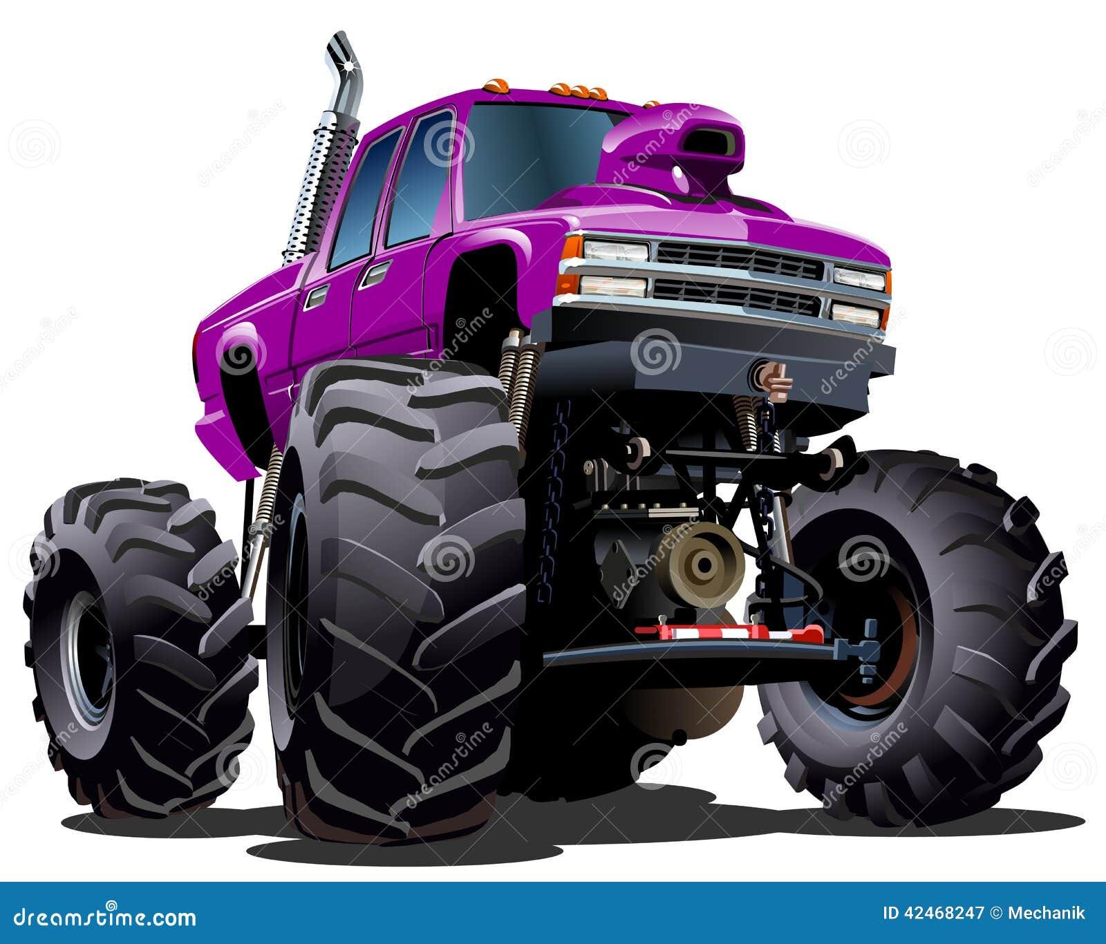 Cartoon monster truck vector illustration cartoondealer