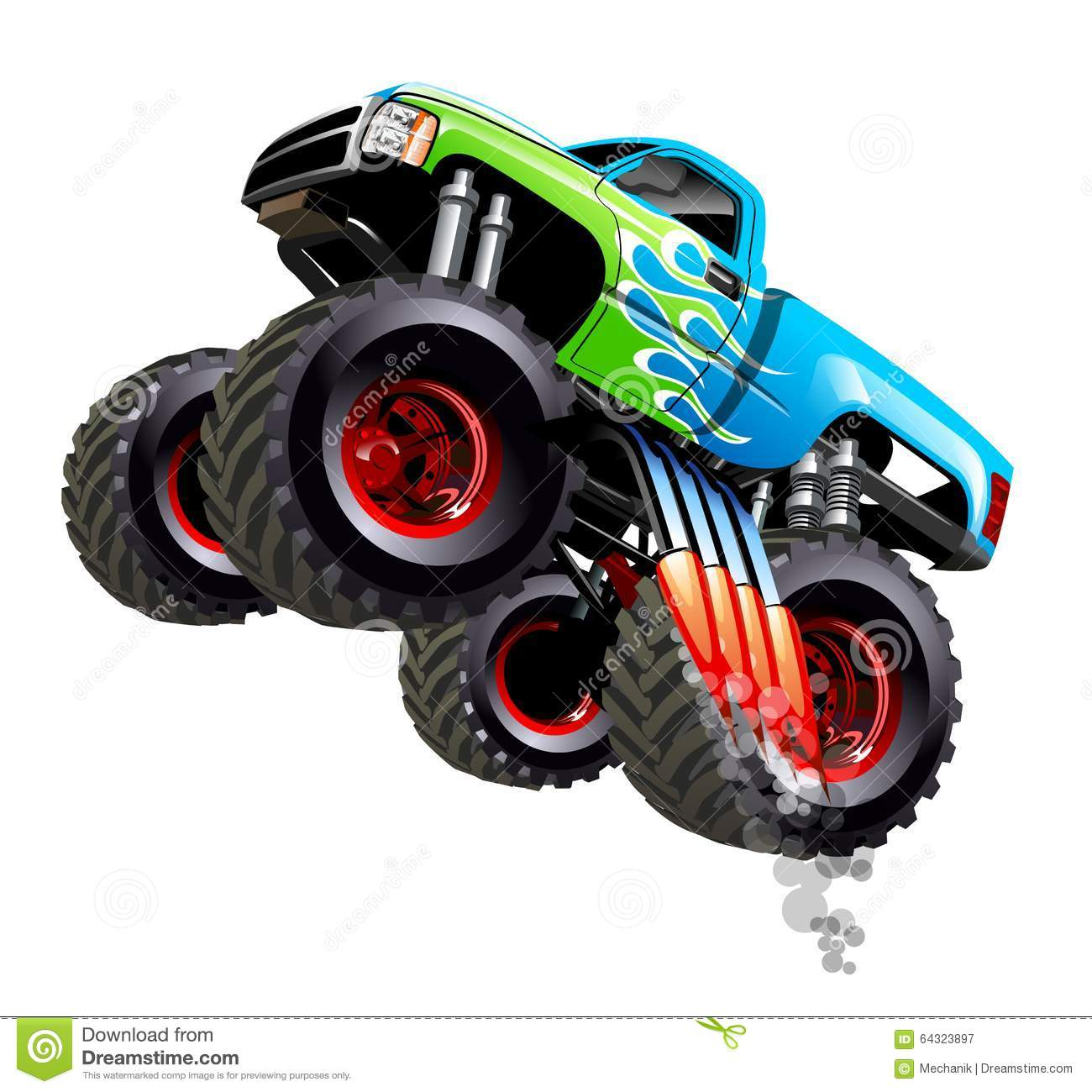 Cartoon Monster Truck. Available EPS-10 separated by groups and layers ...