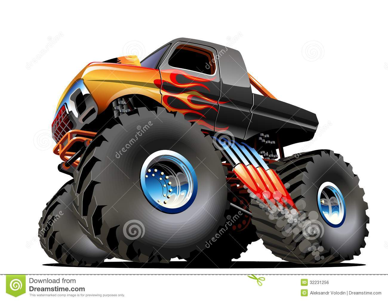 Cartoon Monster Truck. Available EPS-10 vector formats separated by ...