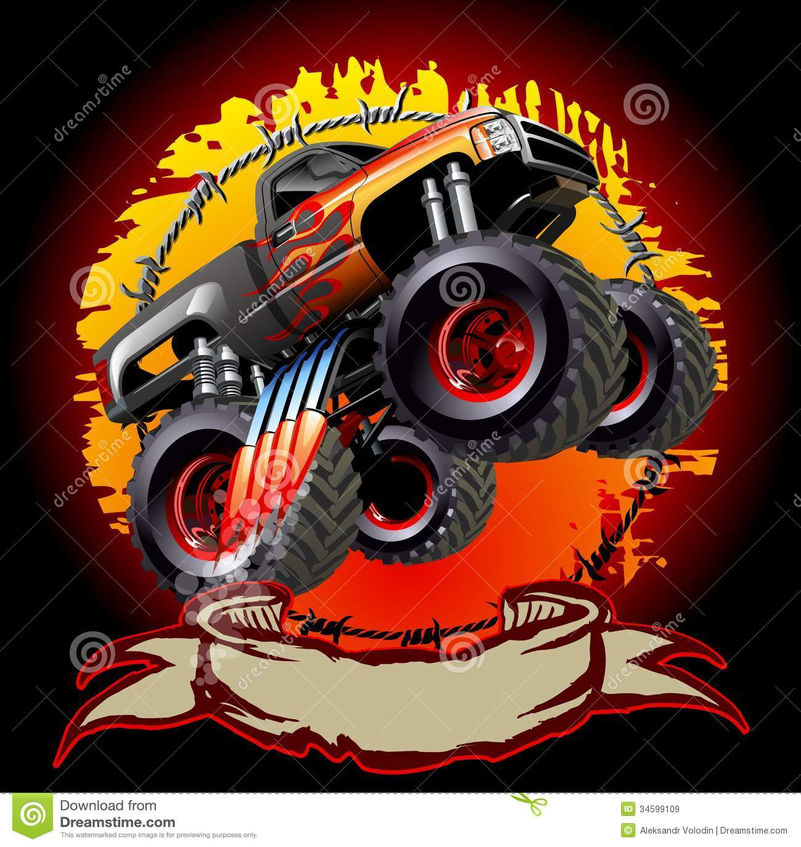 Cartoon Monster Truck Stock Illustrations 1 396 Cartoon Monster Truck Stock Illustrations Vectors Clipart Dreamstime