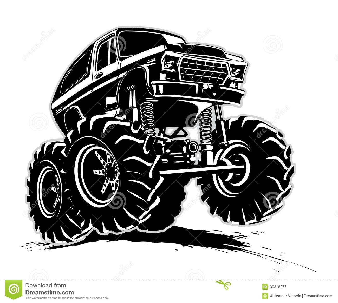 Cartoon Monster Truck Stock Vector Image Of Extreme
