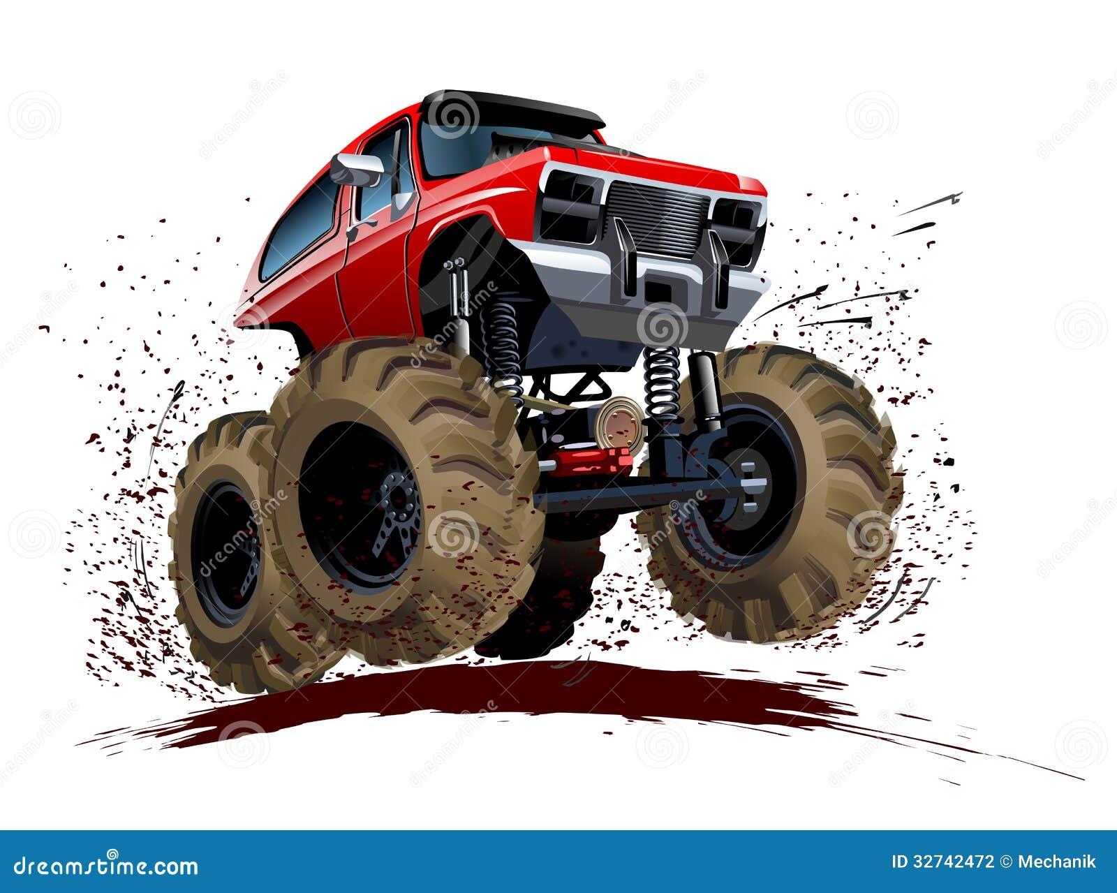Muddy Tractor Clip Art : Cartoon monster truck stock vector illustration of diesel