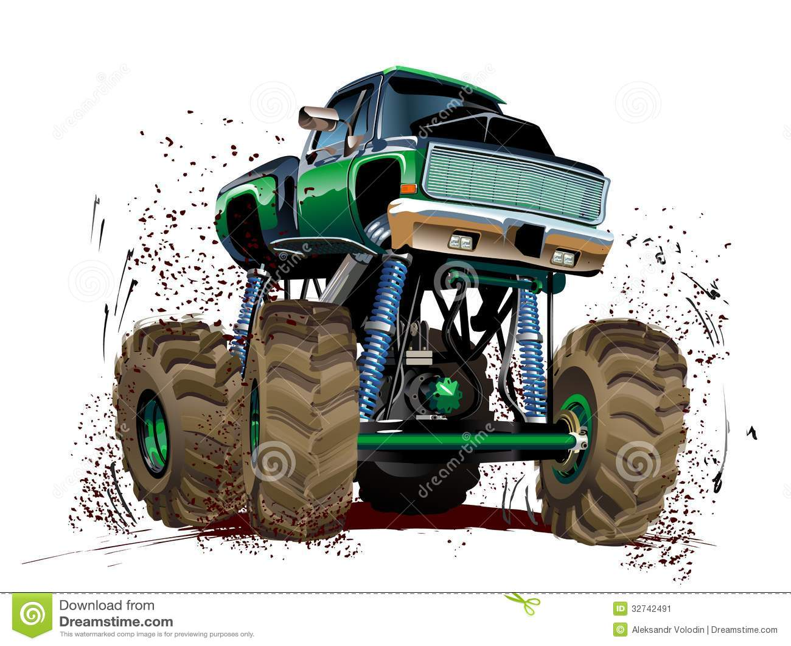 Cartoon Monster Truck Stock Vector Illustration Of Engine