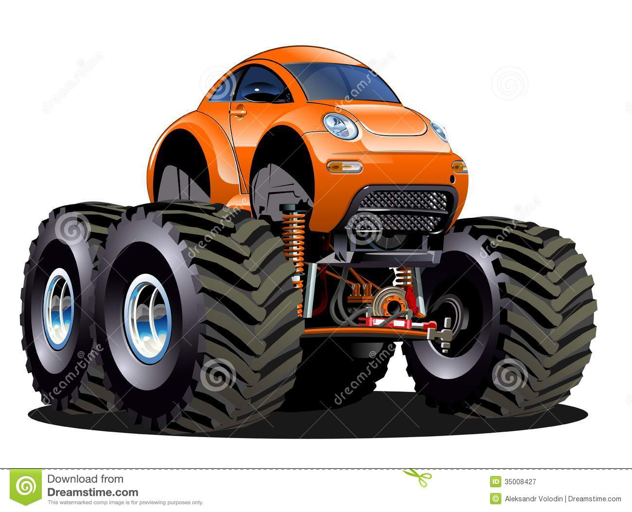 Cartoon Monster Truck Royalty Free Stock Photography Image