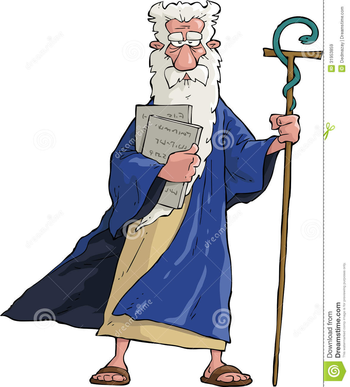 Cartoon Moses Royalty Free Stock Images - Image: 31953859
