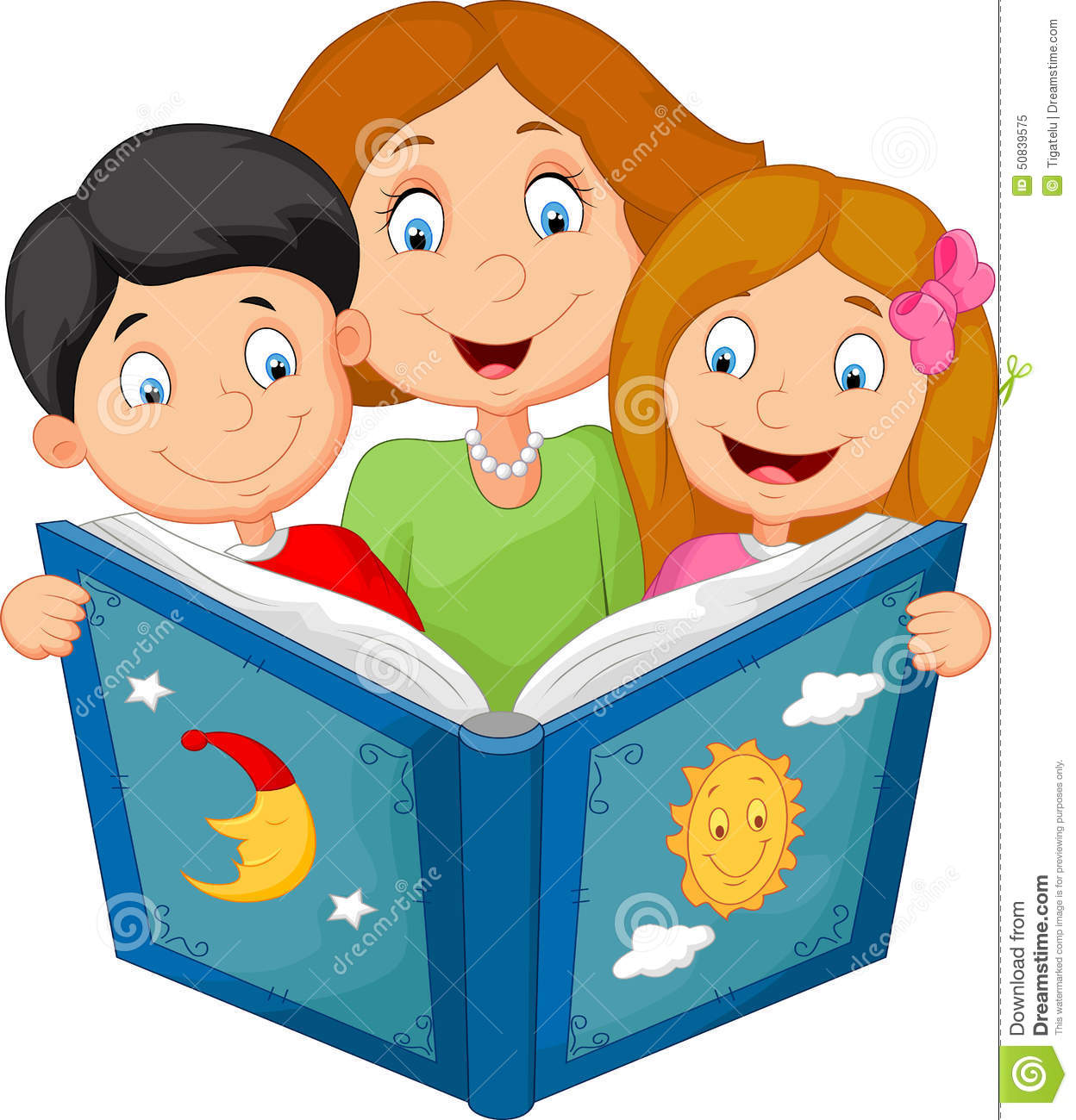Image result for reading with a parent images cartoon