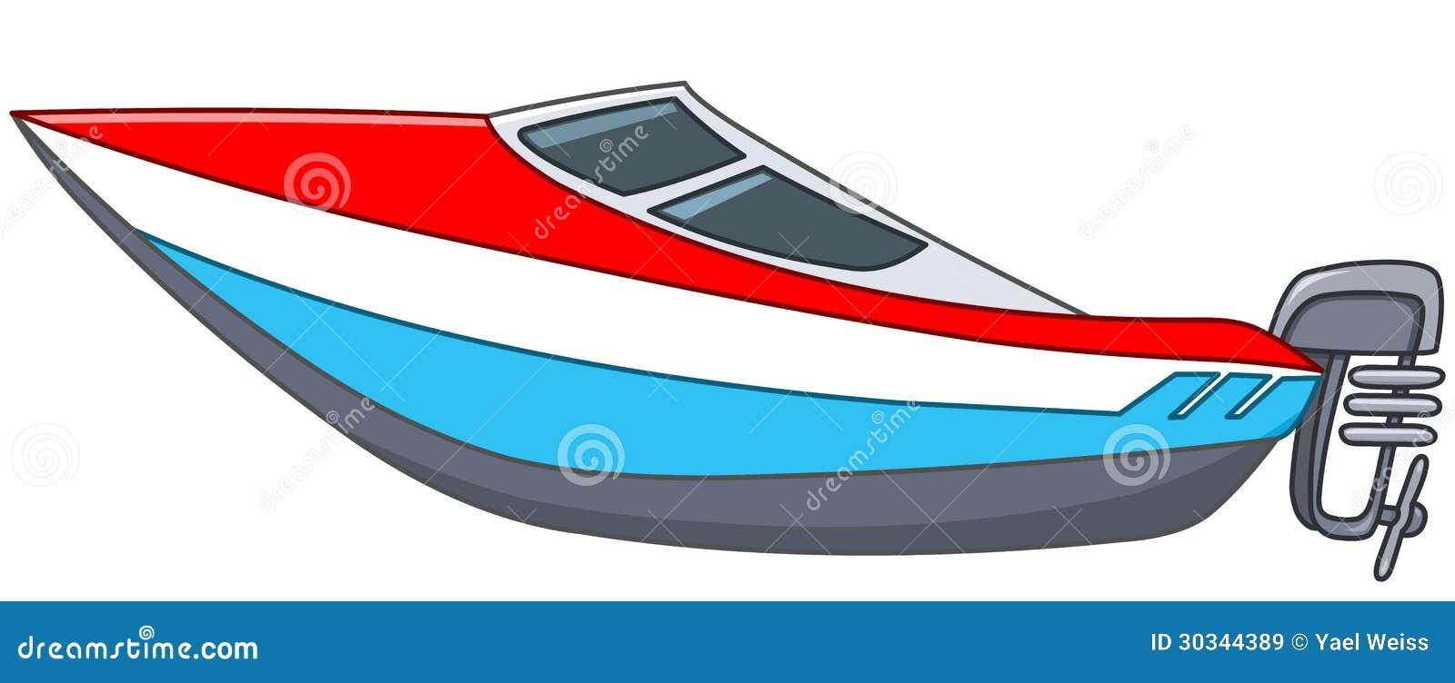 Cartoon Motorboat Royalty Free Stock Images - Image: 30344389