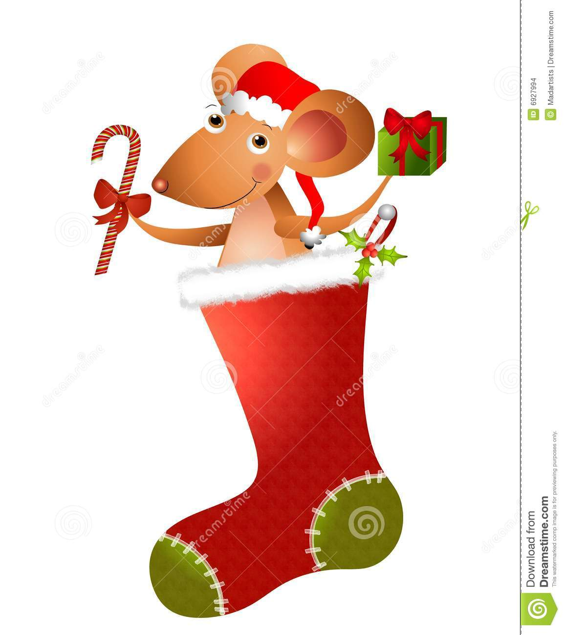 Cartoon Mouse Christmas 2 Stock Images - Image: 6927994