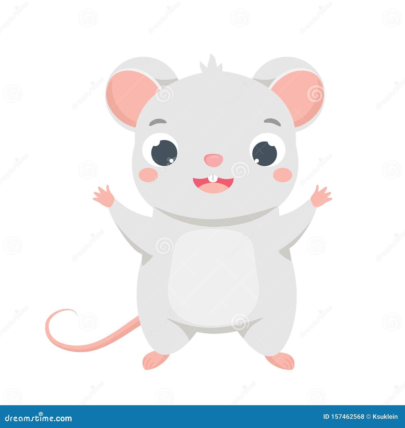 Cartoon Mouse. Cute Rat Character. Vector Clip Art Of ...