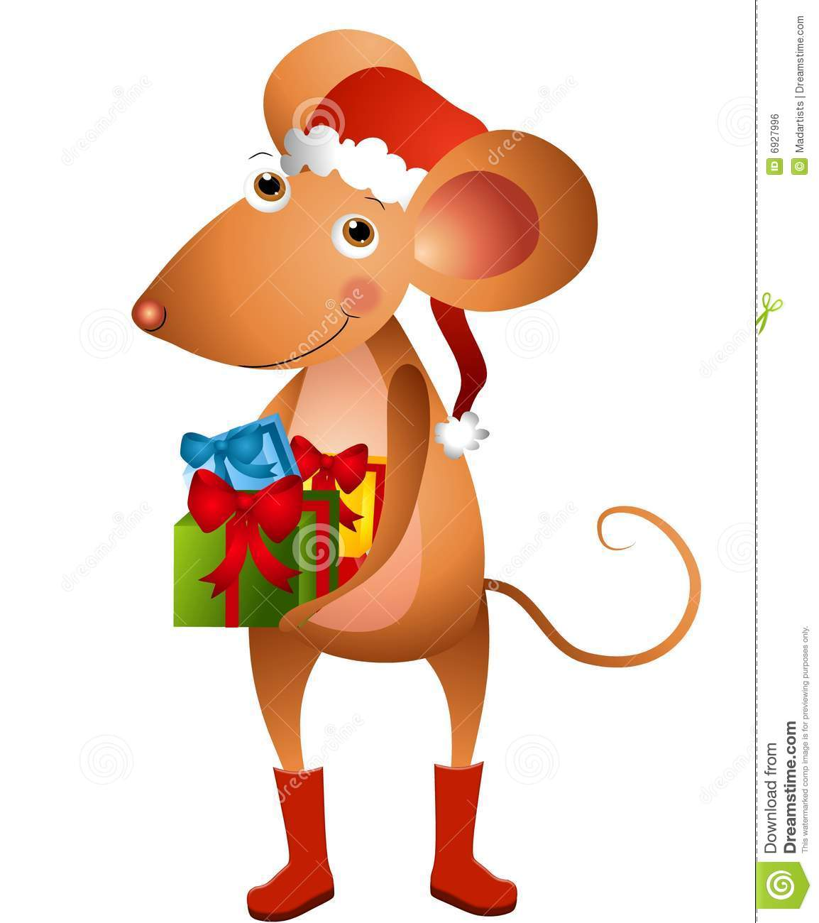christmas mouse clipart - photo #16