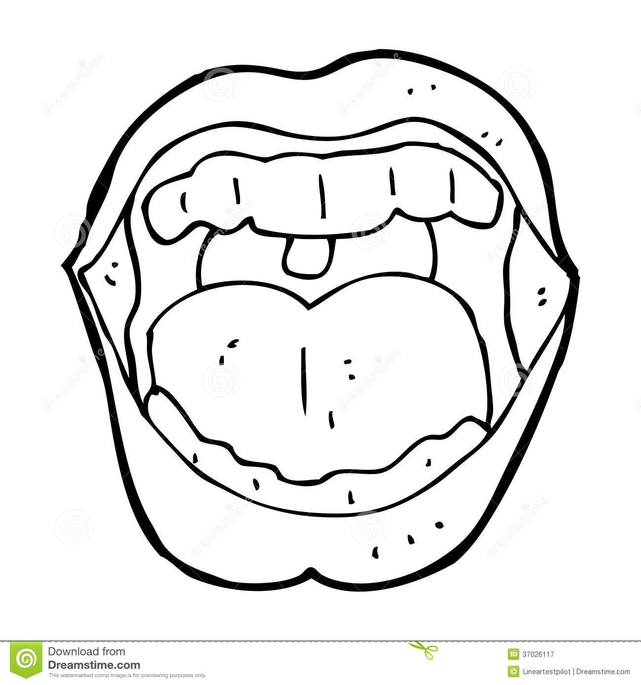 coloring pages for tongue teeth - photo#21