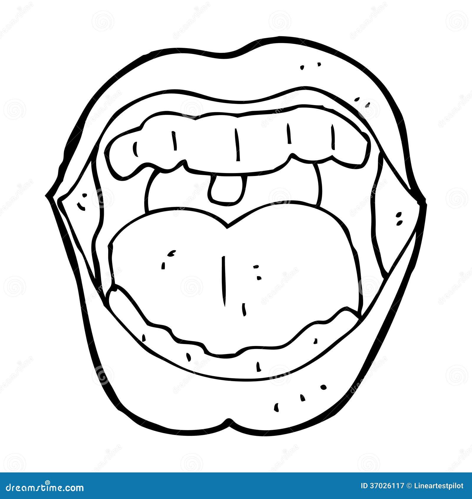 Cartoon Mouth Stock Illustration Illustration Of Simple