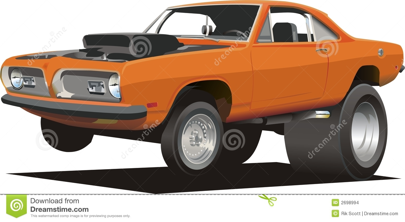 cartoon muscle car stock vector illustration of muscle 2698994 rh dreamstime com Muscle Car Pencil Drawings cartoon muscle cars for sale