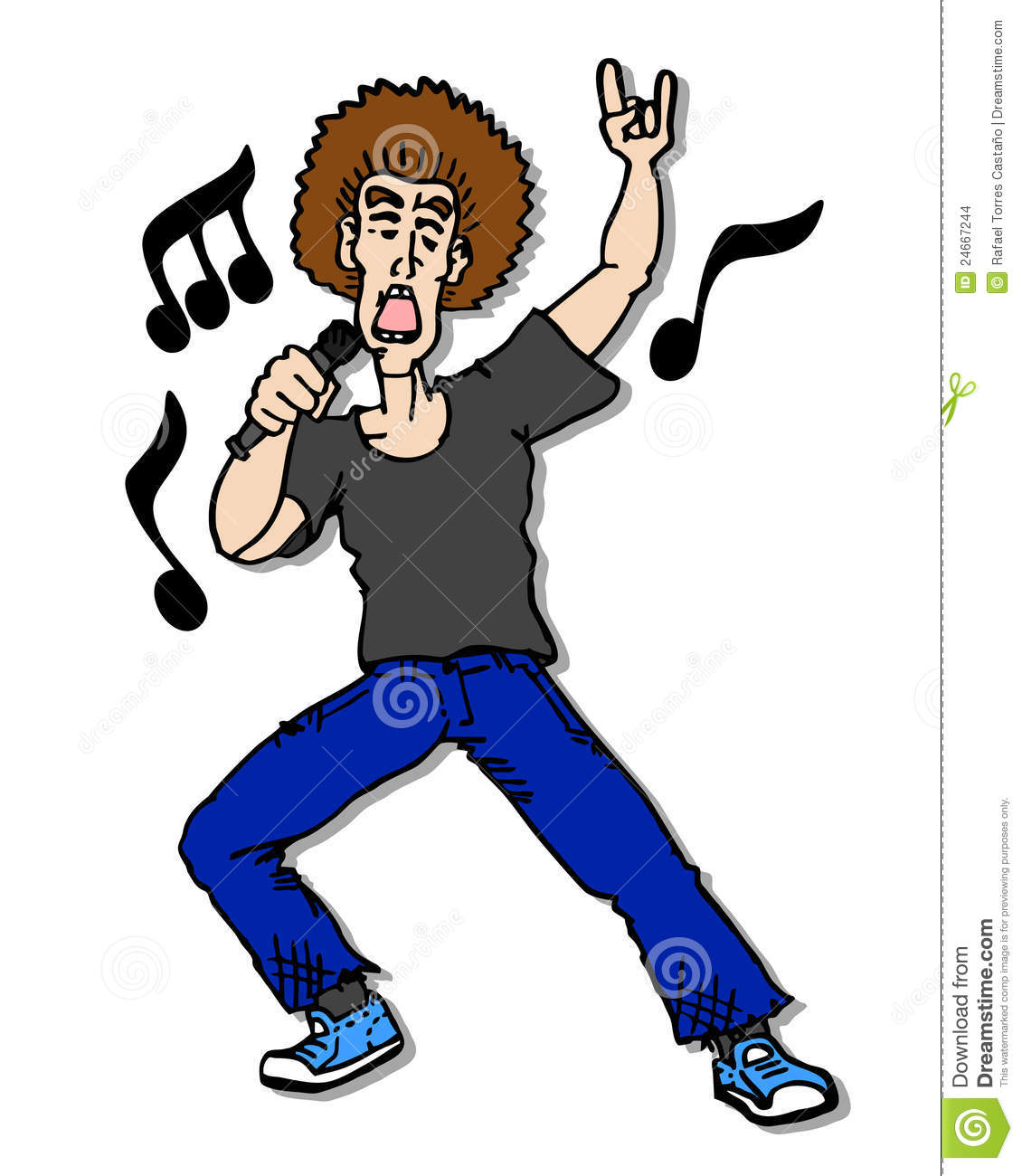 Cartoon Music Man Stock Images - Image: 24667244