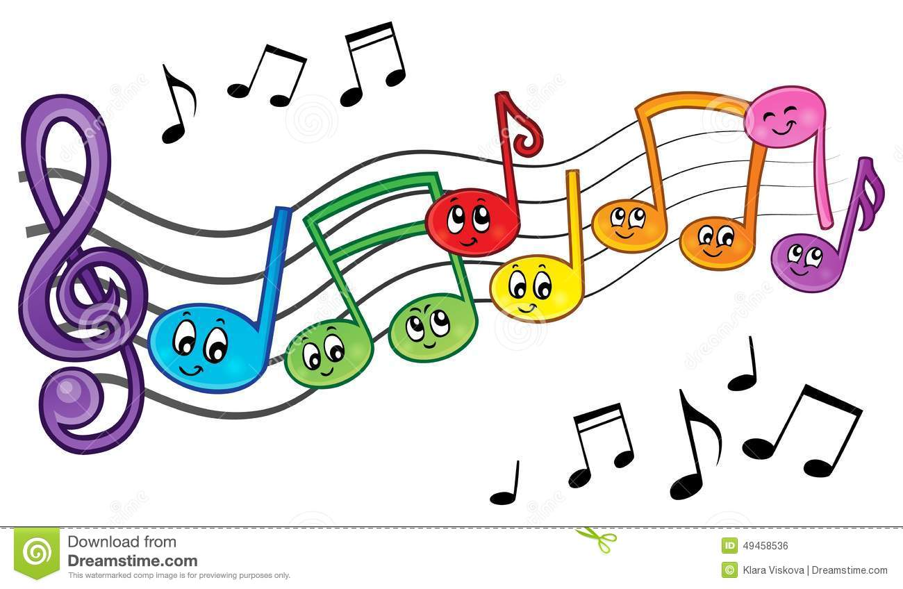 Uncategorized Music Cartoons cartoon music notes theme image 2 stock vector 49458536 royalty free download music