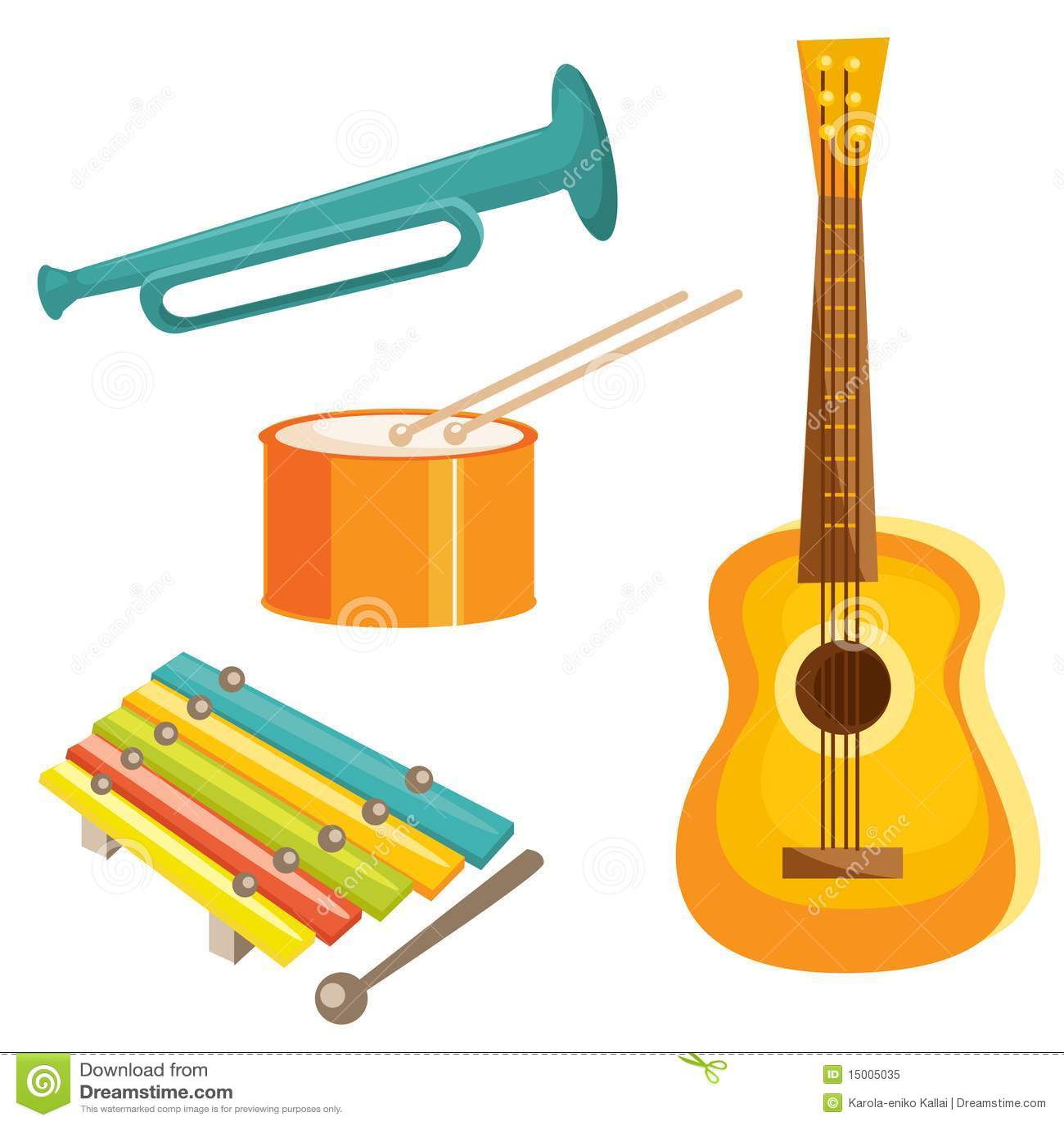 Cartoon Musical Instruments Royalty Free Stock Photo - Image: 15005035