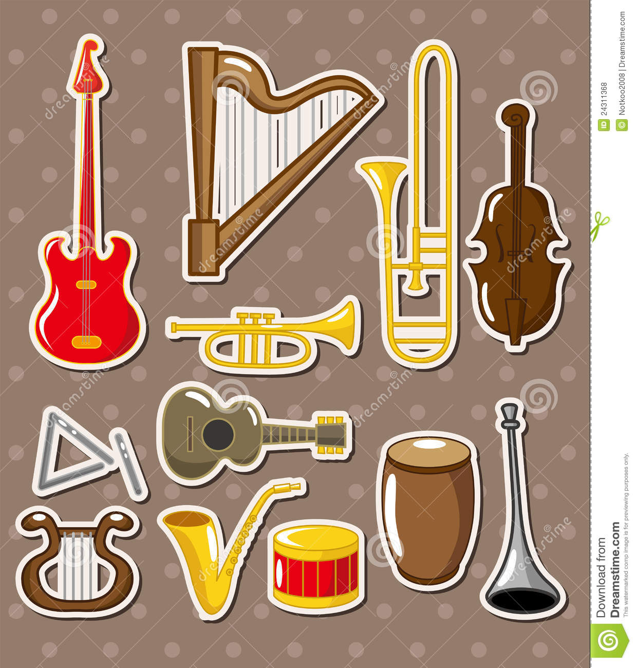 ... x3e musical \x3cb\x3einstruments\x3c/b\x3e stickers royalty free stock: galleryhip.com/cartoon-instruments.html