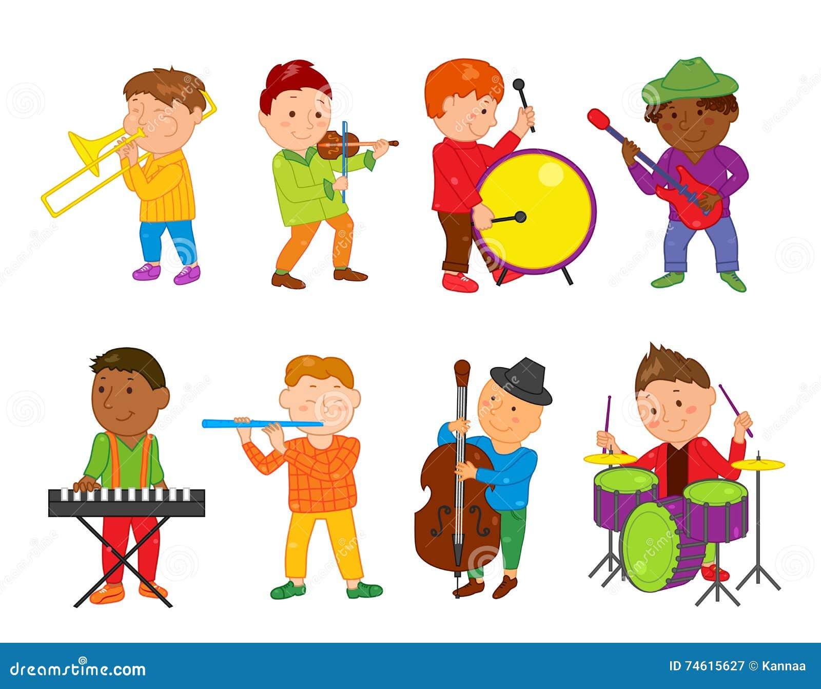 Cartoon Musician Kids. Vector Illustration For Children ...