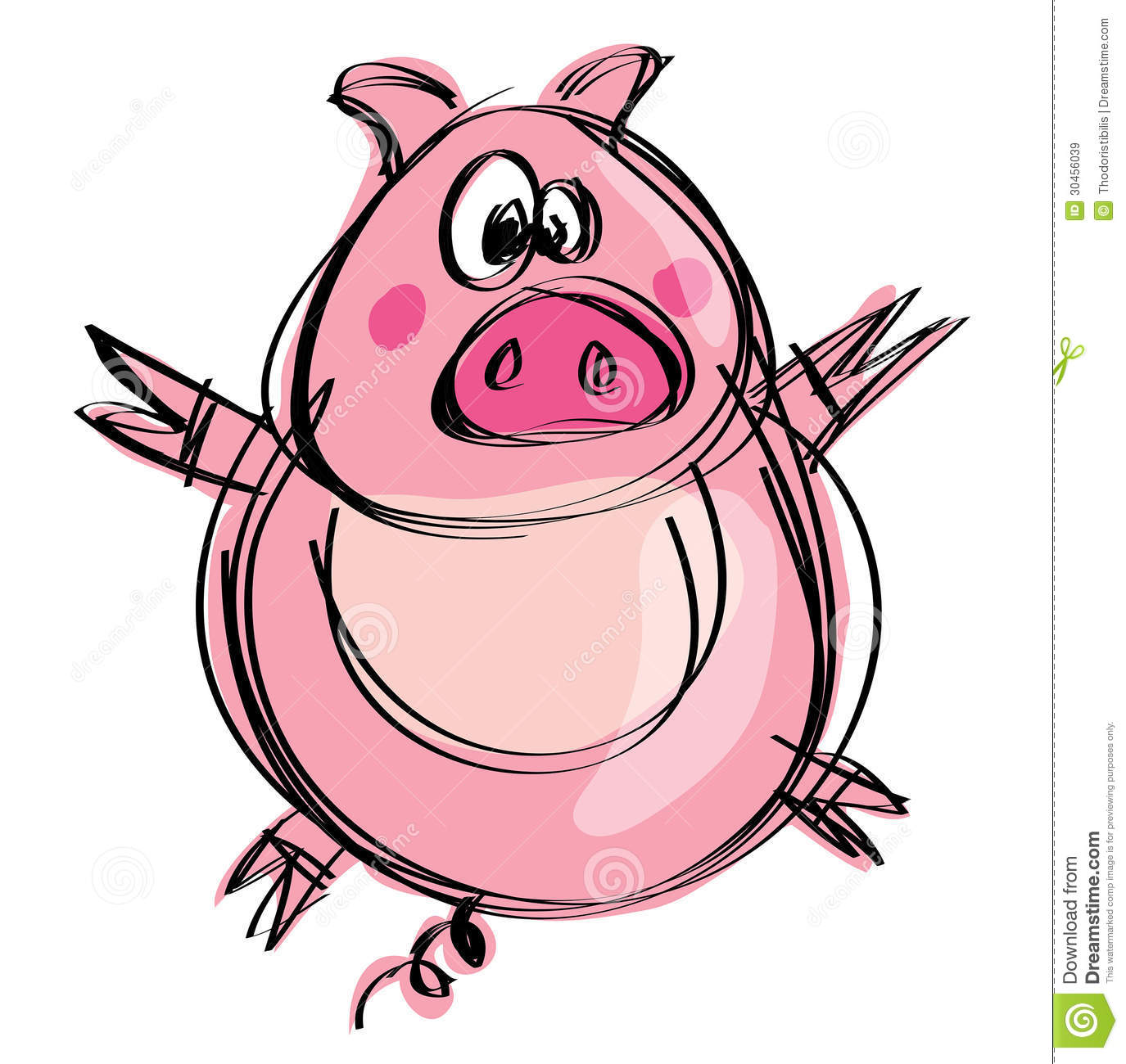 Uncategorized Baby Pig Drawing cartoon naif baby pig in a childish drawing style stock royalty free photo download pig