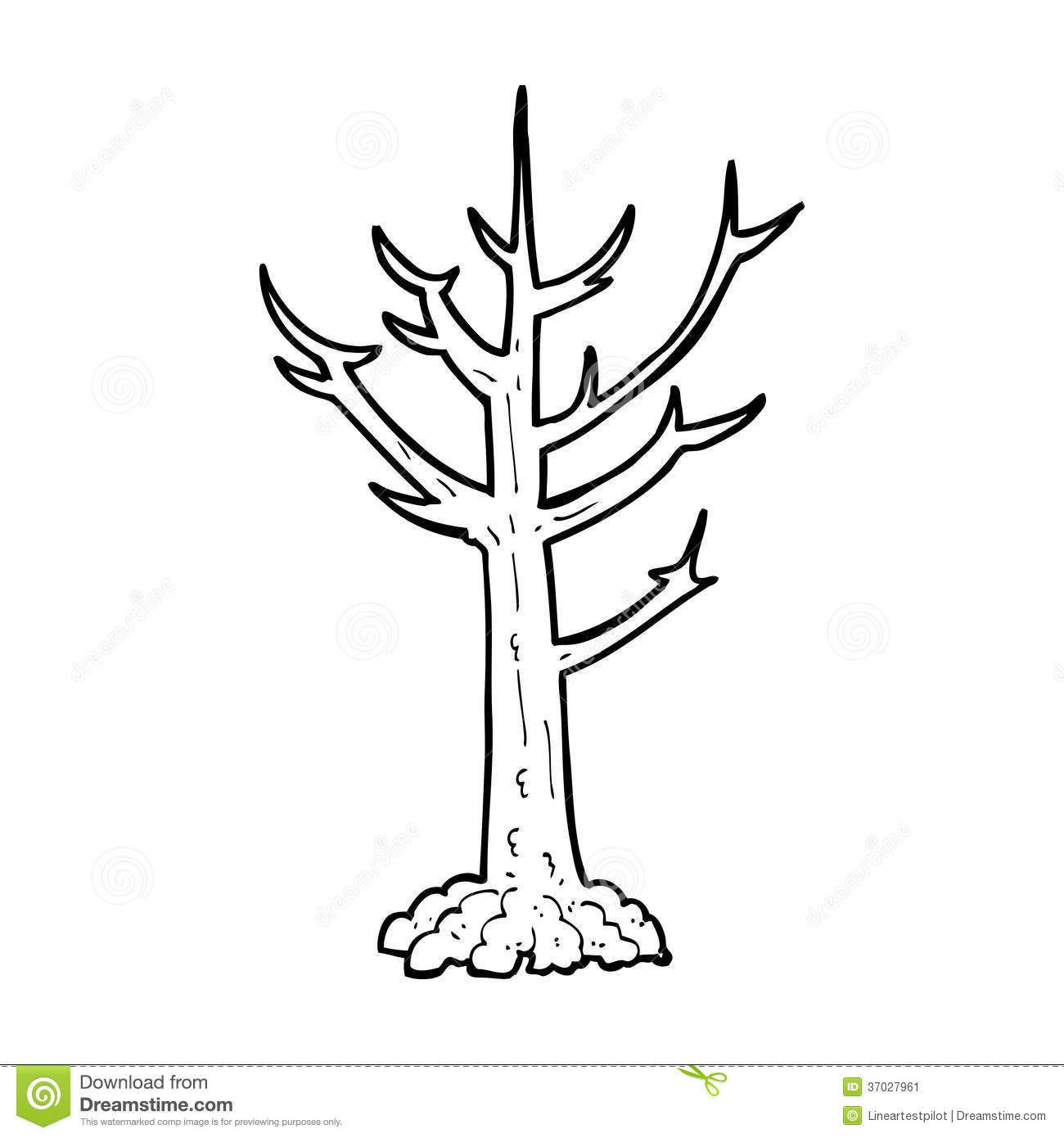 Cartoon naked tree stock illustration illustration of