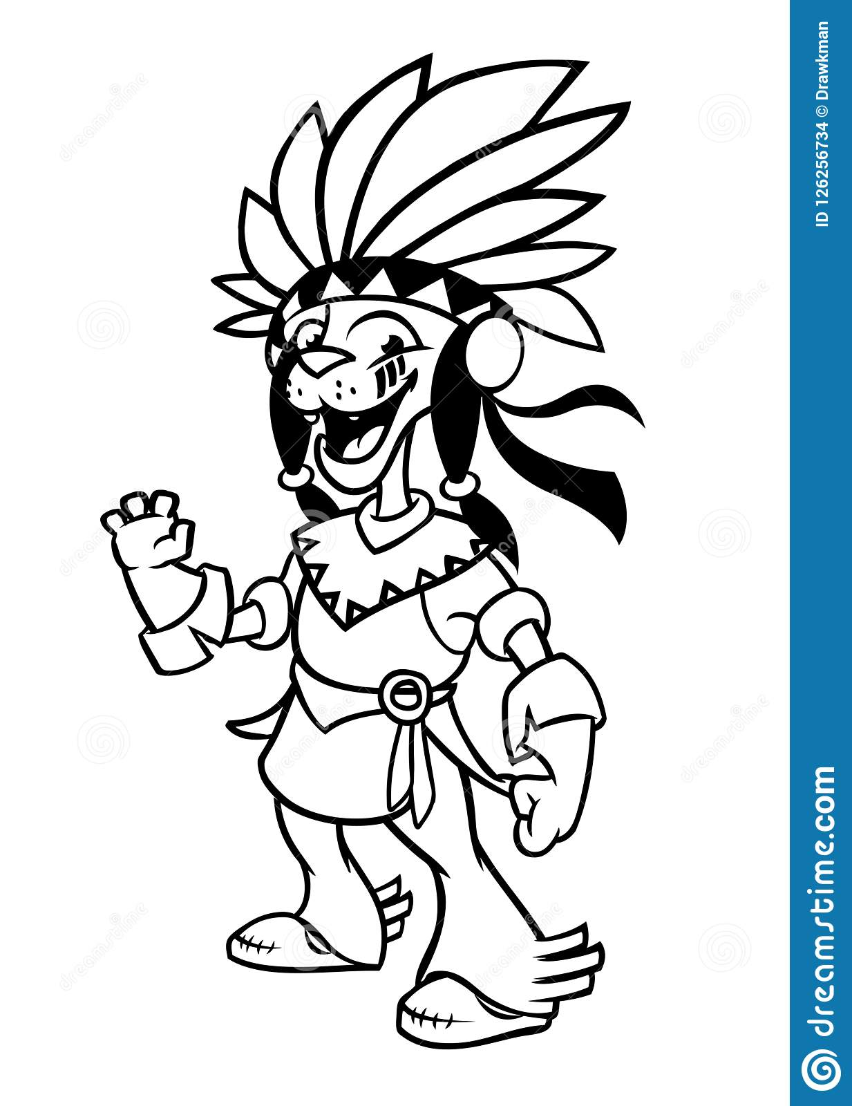 thumbs.dreamstime.com/z/cartoon-native-american-in...