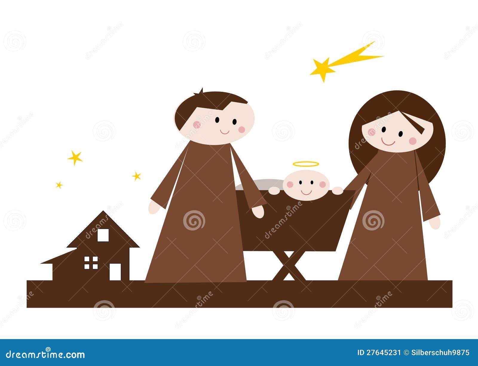 cartoon nativity scene stock image image 27645231 nativity scene clipart for children nativity scene clipart black and white