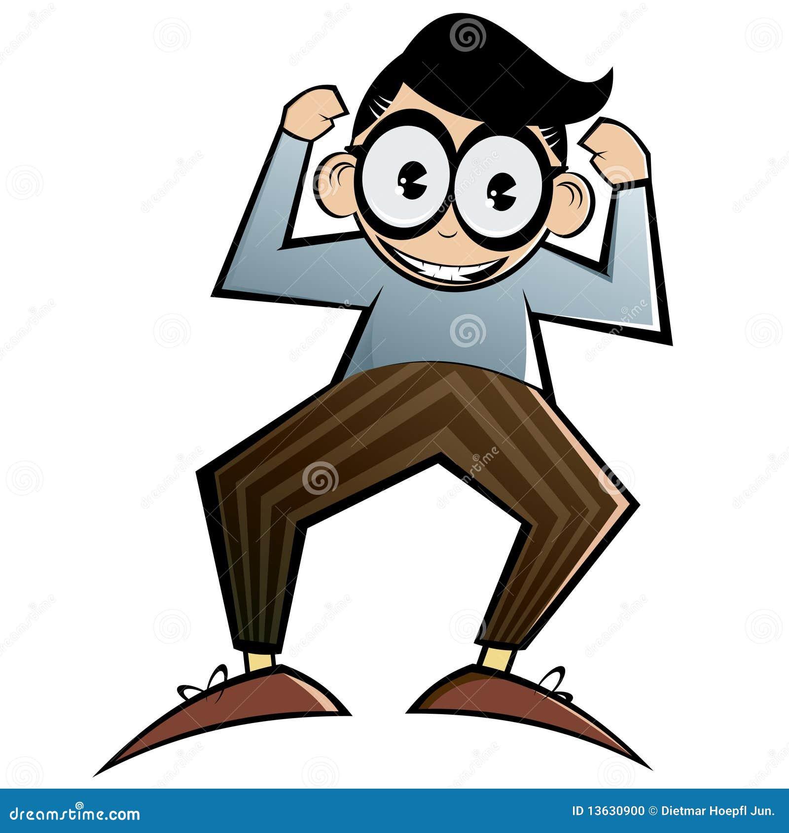 Cartoon Characters Glasses : Cartoon nerd with glasses stock photo image