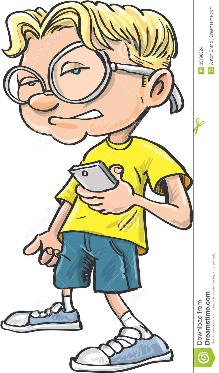 Cartoon Characters W Glasses : Cartoon nerd with glasses stock images image