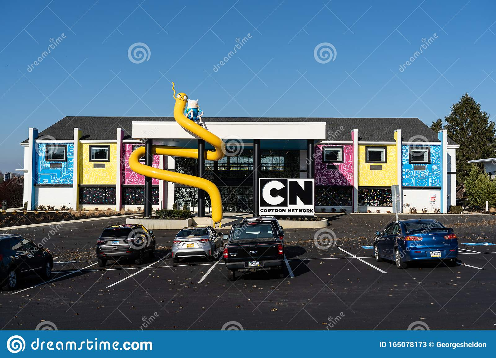 The Cartoon Network Hotel Main Entrance Editorial Stock Photo