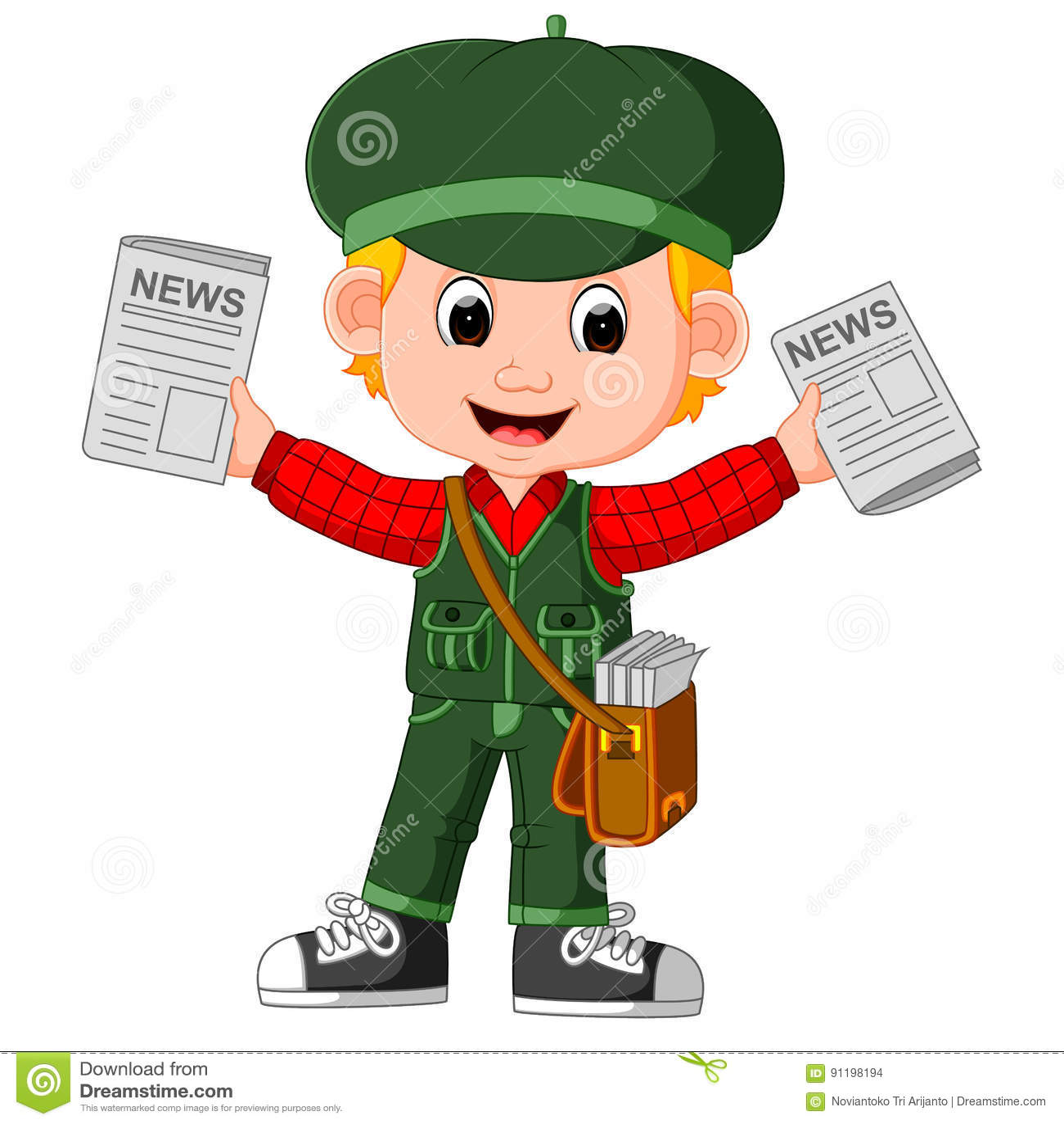 newspaper boy stock illustrations – 544 newspaper boy stock