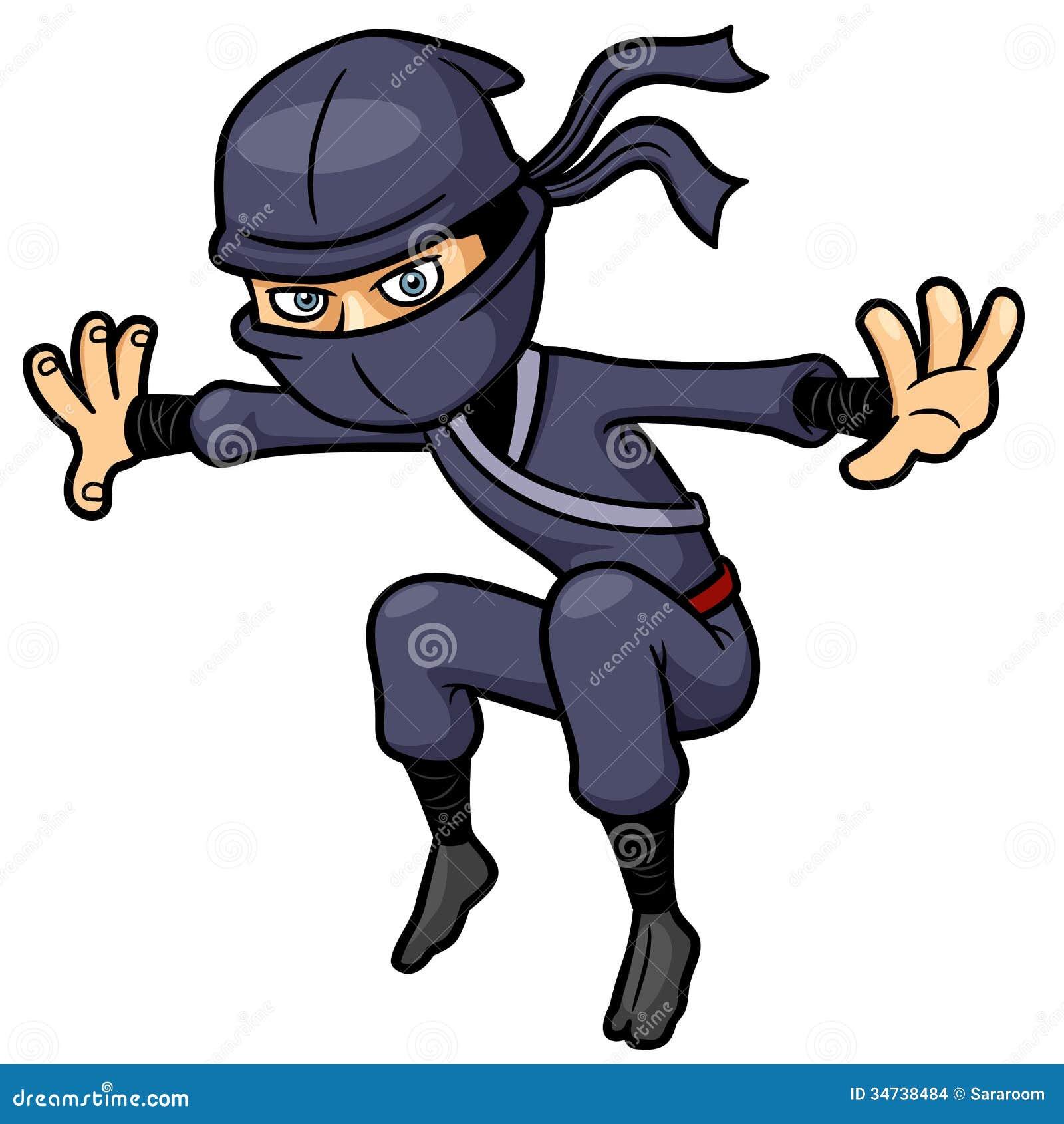 Cartoon Ninja Stock Images Image 34738484