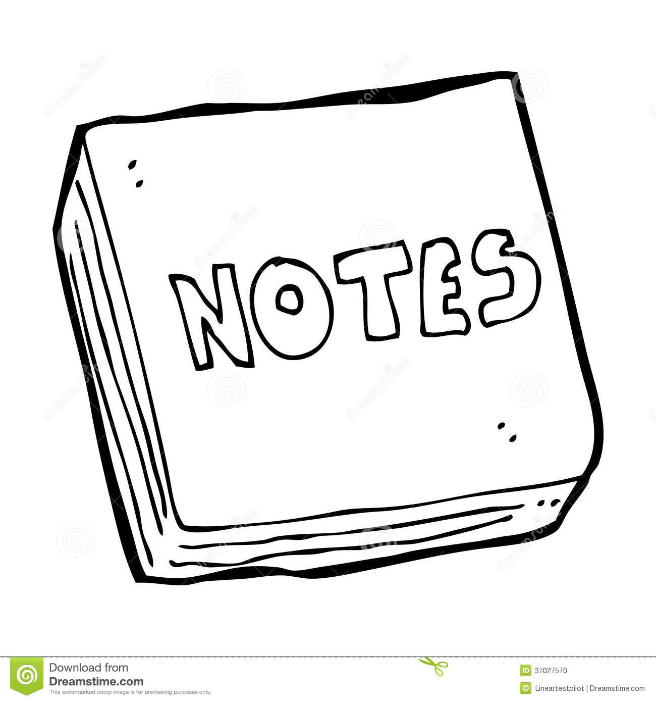 cartoon notes pad stock photo image 37027570 m clip art black and white m clipart transparent