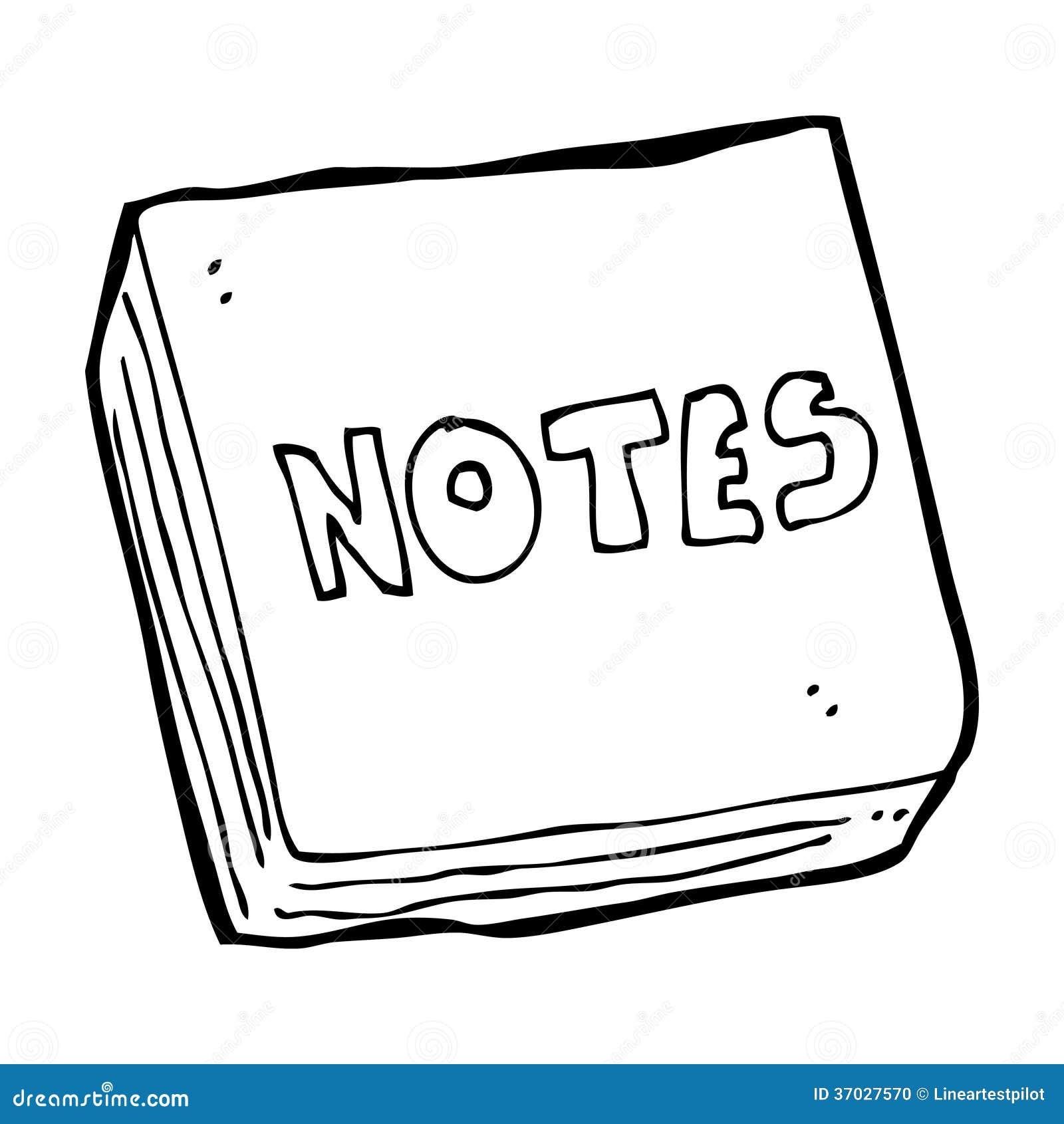 Line Art Notes : Cartoon notes pad stock illustration of