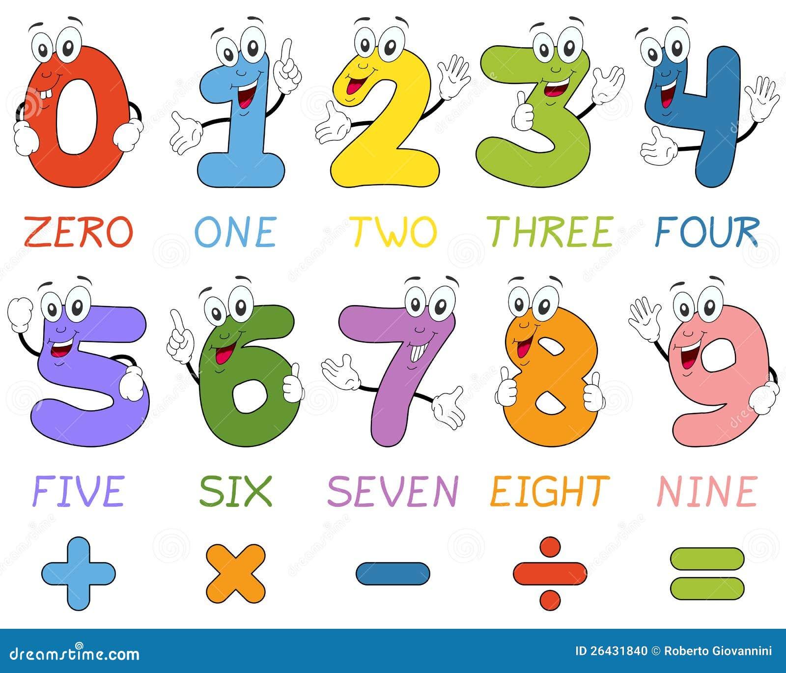 Cartoon Numbers Characters