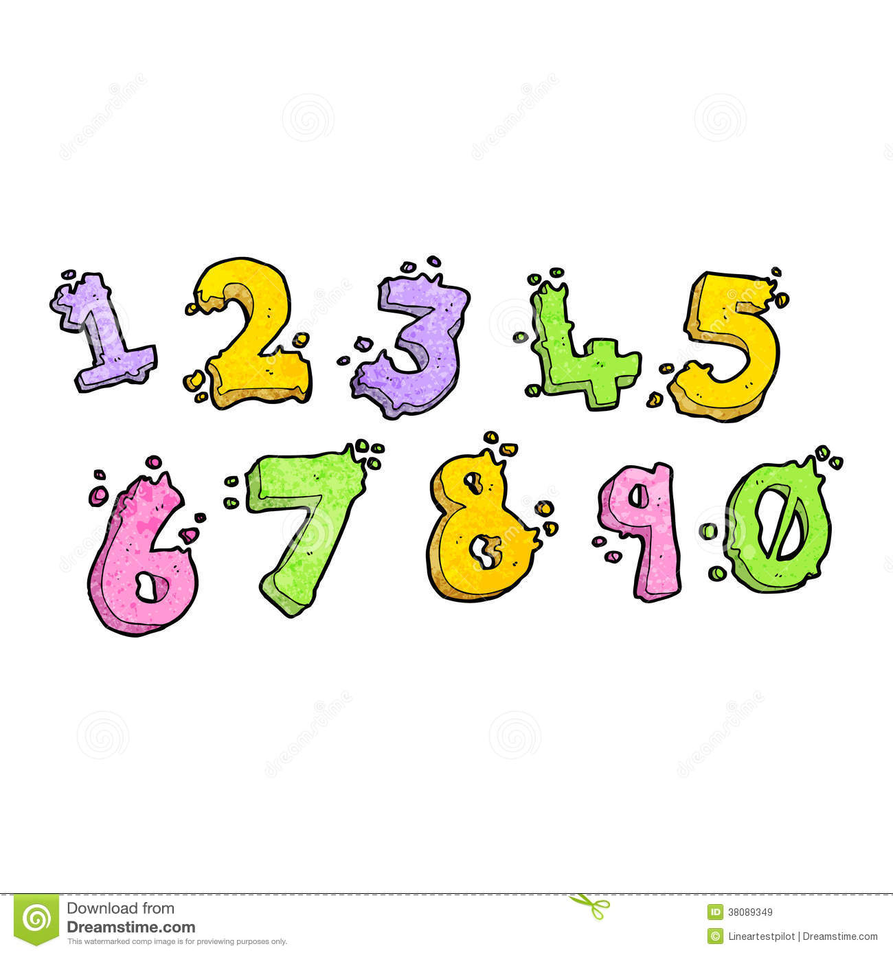Cartoon Numbers Royalty Free Stock Images - Image: 38089349