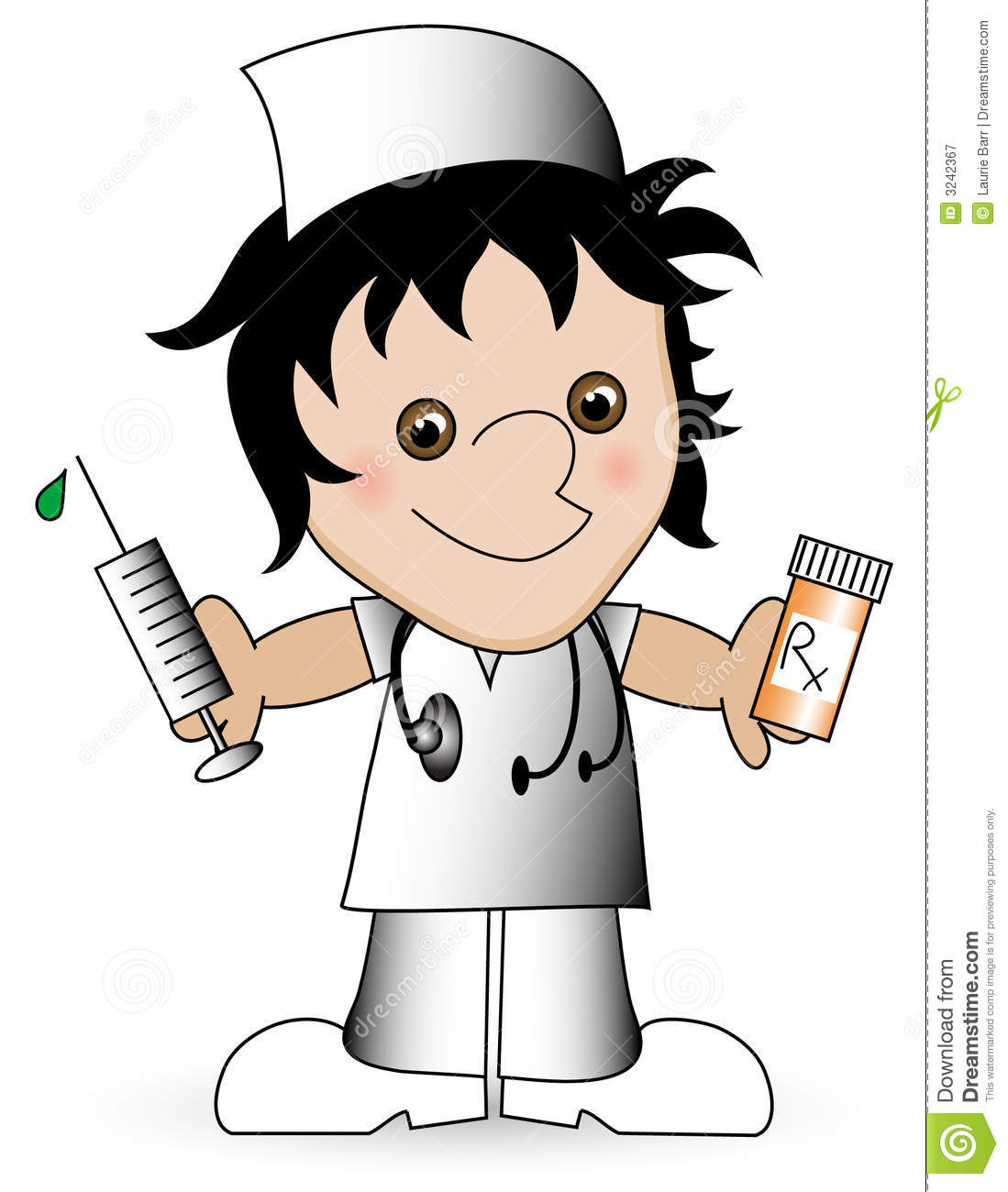 Cartoon Nurse. Royalty Free Stock Photography - Image: 3242367