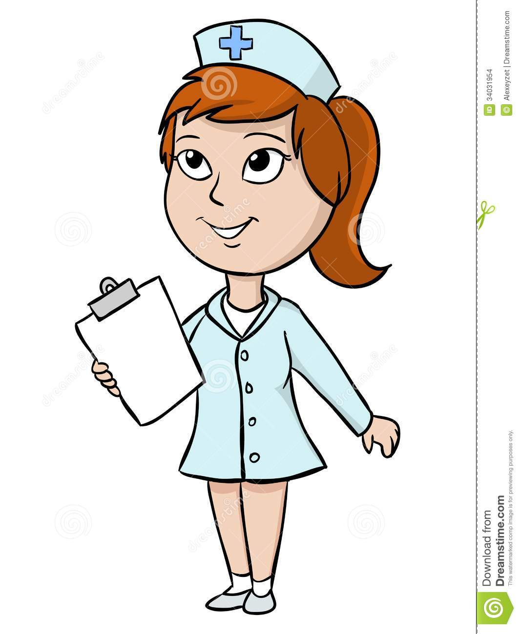 Cartoon Nurse With Blank Tablet Stock Images - Image: 34031954 Veterinary Tools Clip Art