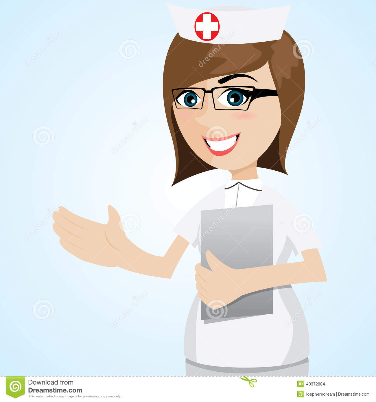 Cartoon Nurse Portrait Stock Vector Illustration Of Present