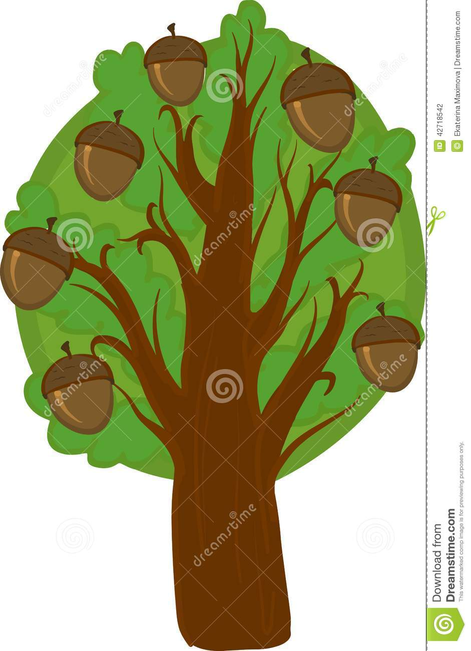 Oak Tree Silhouette Stock Vectors Clipart and Illustrations