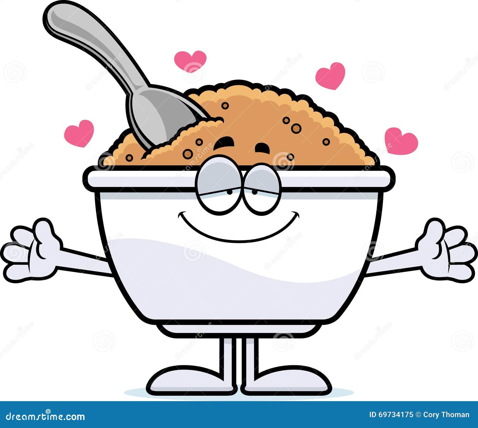 Cartoon Oatmeal Hug stock vector. Illustration of ...