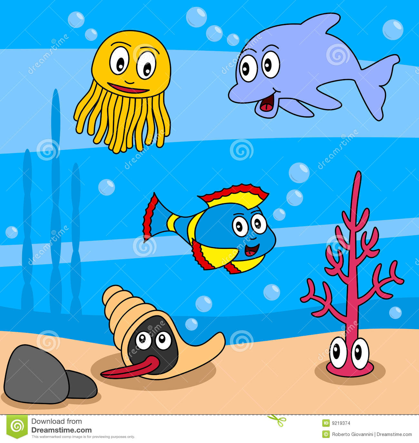 Cartoon ocean life 1 stock vector illustration of drawing 9219374 cartoon ocean life 1 voltagebd Gallery