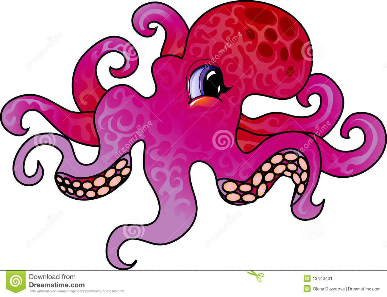 Cartoon octopus stock illustration illustration of for Octopus in cartoon