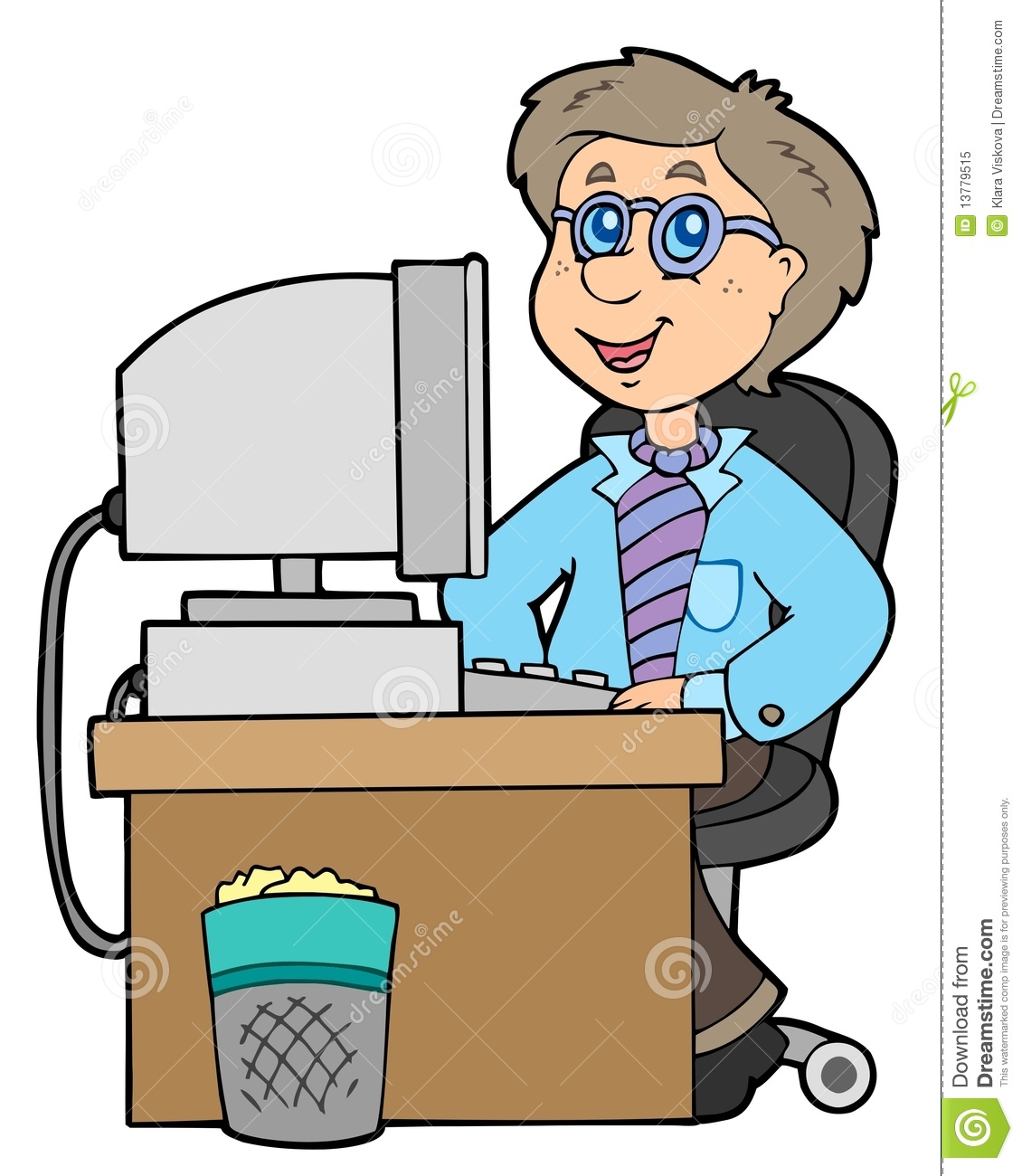 cartoon office worker stock vector illustration of happiness 13779515 rh dreamstime com free busy office worker clipart