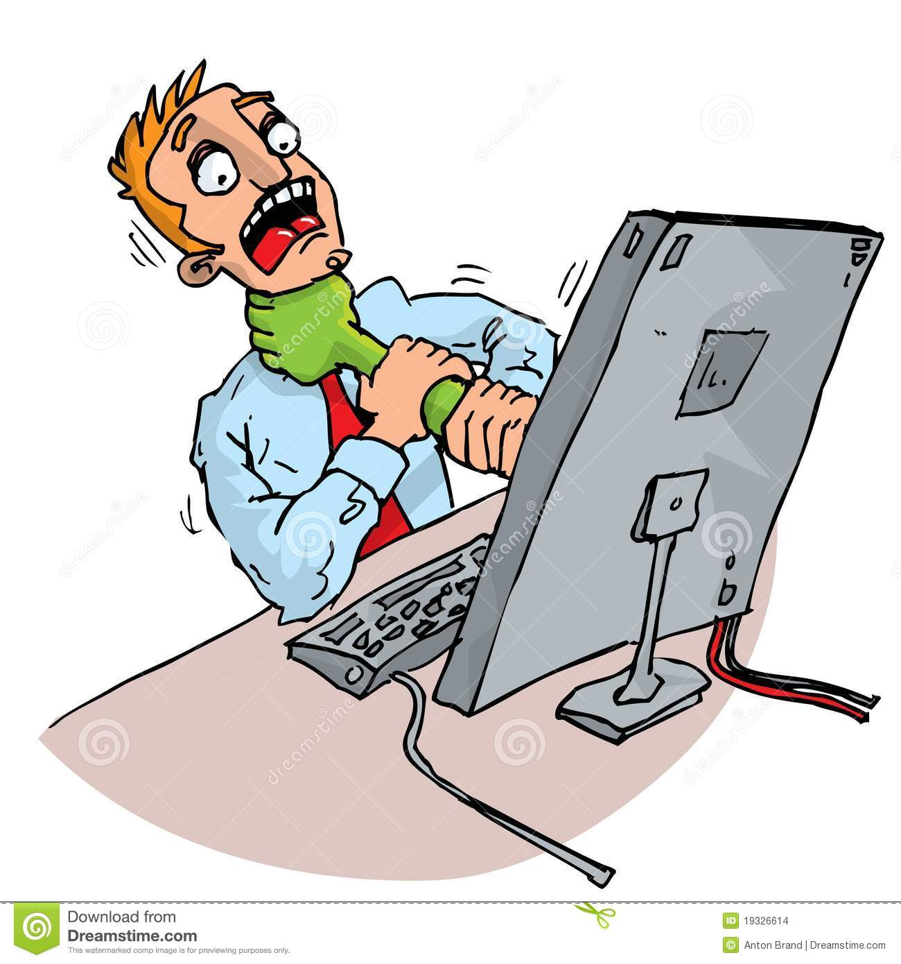 Cartoon office worker attacked by stock images image 19326614