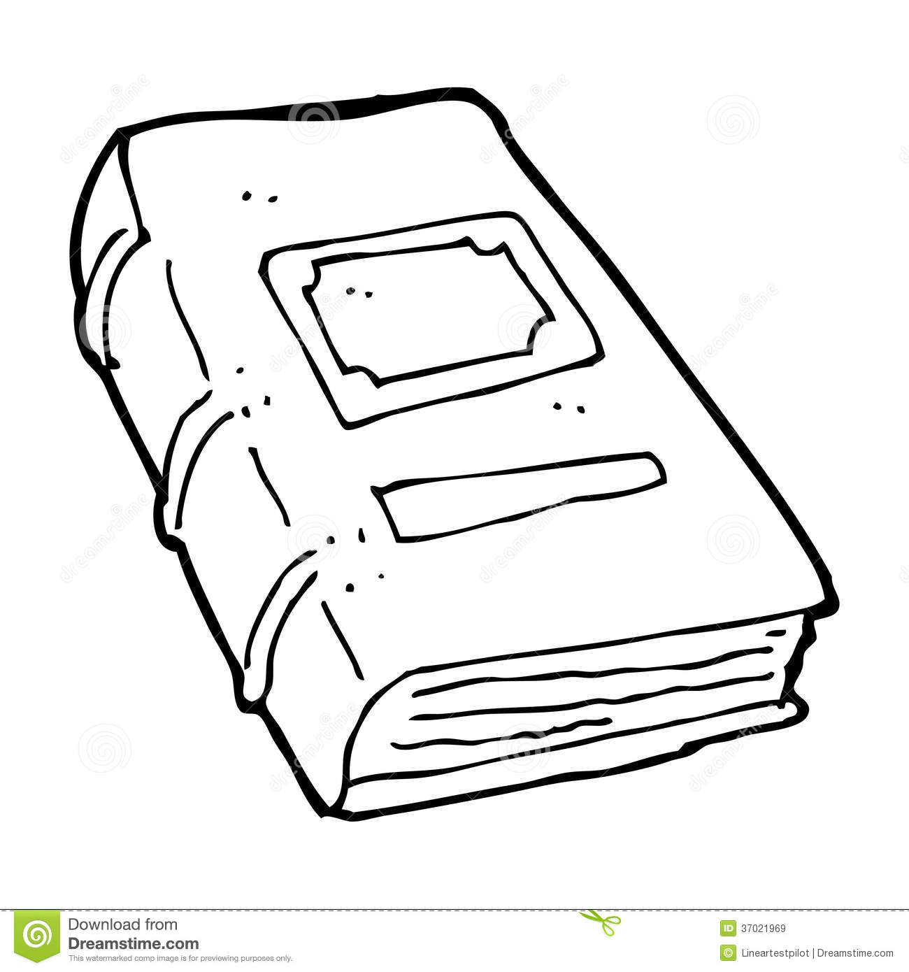 Line Art Book : Cartoon old book stock illustration of
