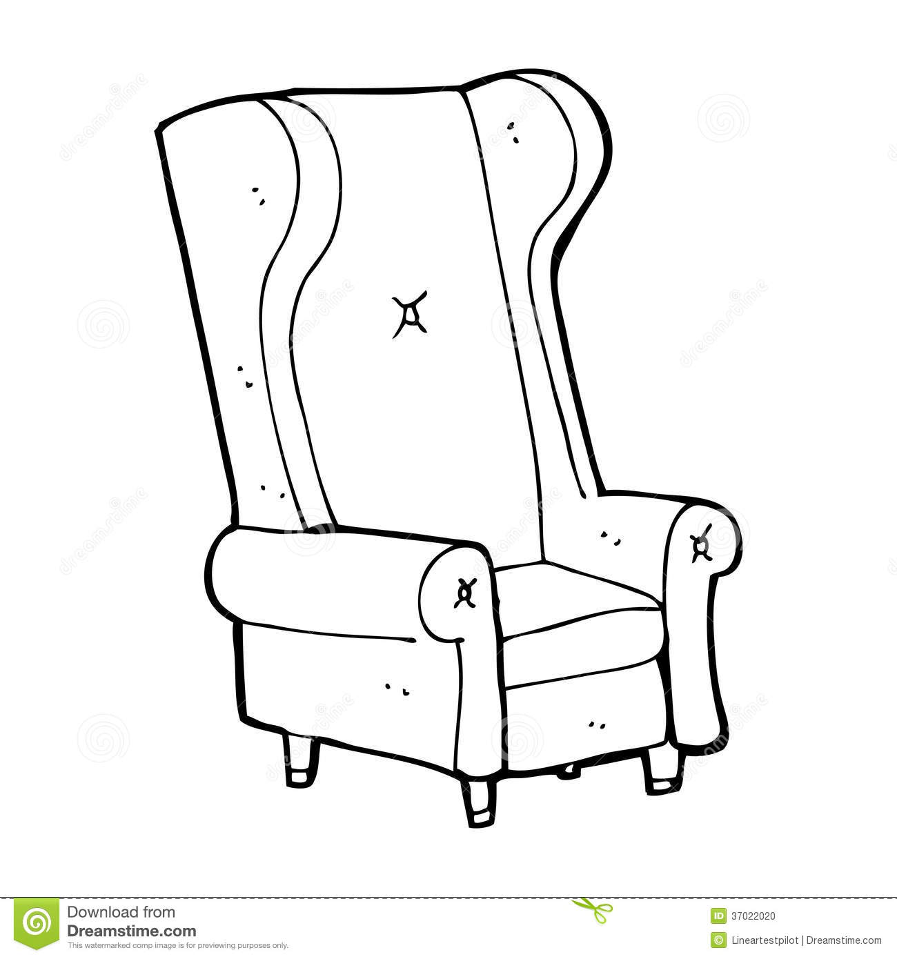 Black and white chair drawing - Stock Photo Cartoon Old Chair Black White Line Retro Style Vector Available Image37022020 Jpg 1300x1390 Cartoon